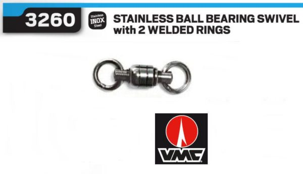 VMC Stainless Ball Bearing Swivel With 2 Welded Rings 3260SS - Promarine