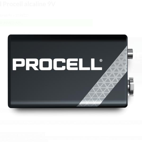 Duracell Procell Alcaline 9V (6LR61) 10 pz - Promarine