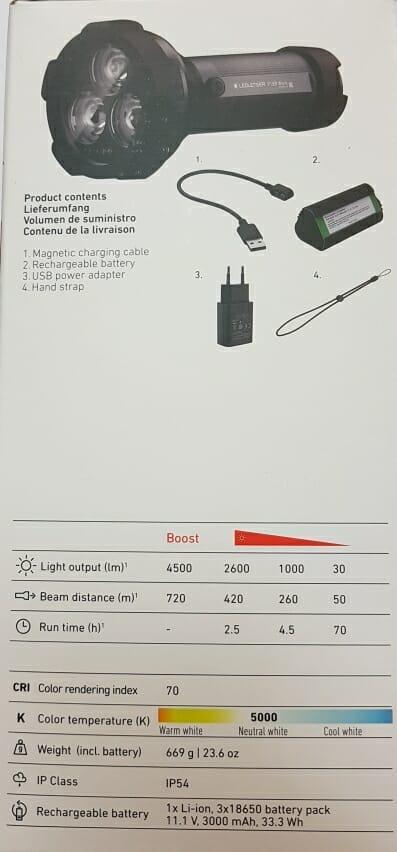 Ledlenser Torcia Manuale P18R Work 4500 Lumen - Promarine