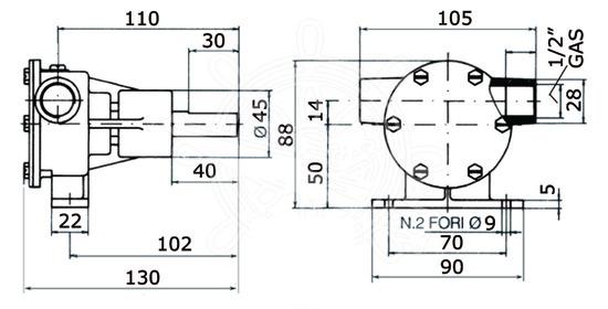 Ancor Pompa Raffreddamento Motore PM16 - Promarine