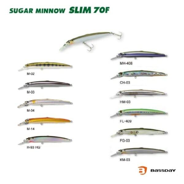 Bassday Sugar Minnow Slim 70F - Promarine